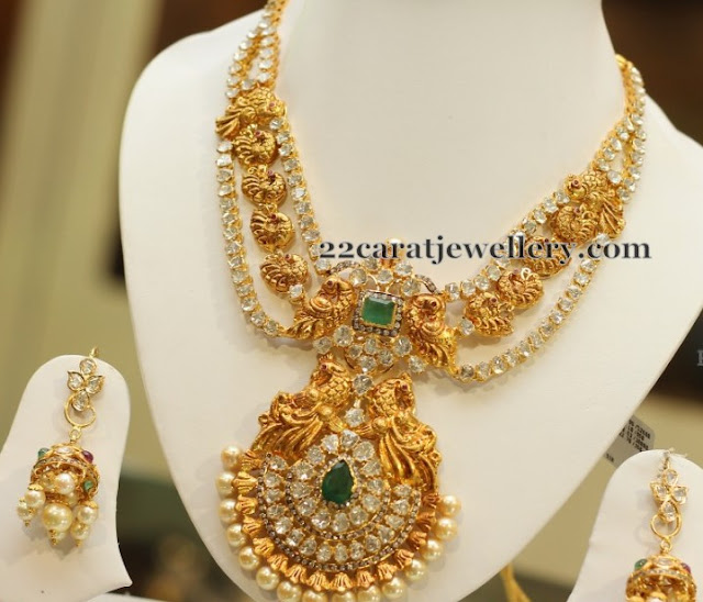 Three Rows Nakhi and Pachi Necklace