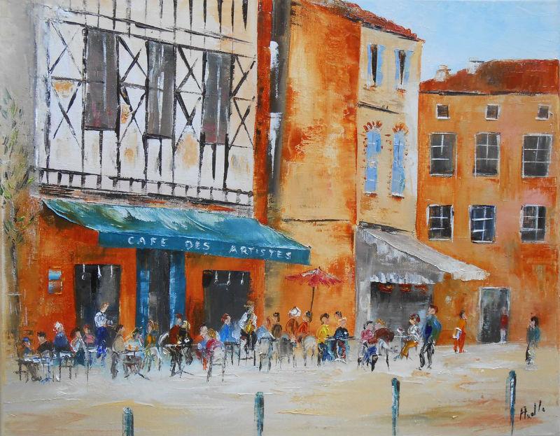 Le Café des Artistes de Toulouse par Axelle Bosler