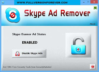 Free latest version of Skype ads Blocker for Windows