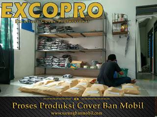 proses packing sarung ban cover ban mobil