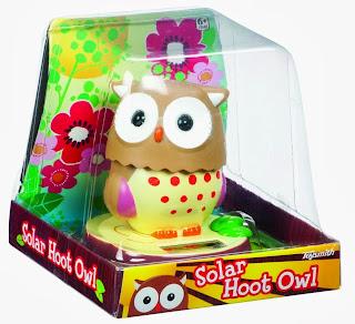 Toysmith Solar Hoot Owl (4-Inch)
