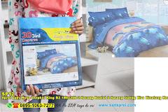 Sprei Lady Rose Dolphin King B2 180×200 2 Sarung Bantal 2 Sarung Guling Biru Binatang Remaja Dewasa Katun Disperse