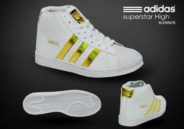 200rb. c84ec 95182  top quality nama barang adidas superstar high women  white gold ukuran tersedia 37 40. deskripsi 10ad6b2661