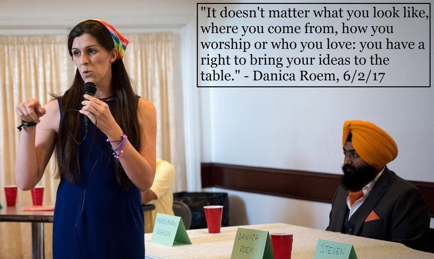 Danica Roem Virginia House of Delegates. You have the right to bring your ideas to the table