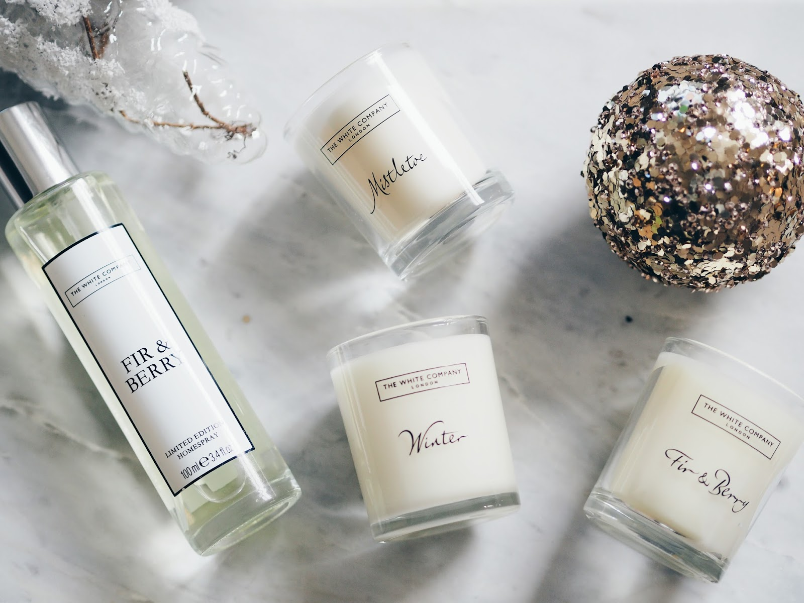 The White Company Winter Candle Fir and Berry Room Spray Home Fragrance