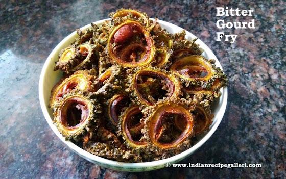 Kakarakaya Fry, Bitter Gourd Fry