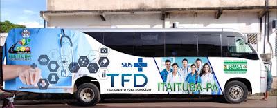 Resultado de imagem para foto do ônibus do tfd de itaituba