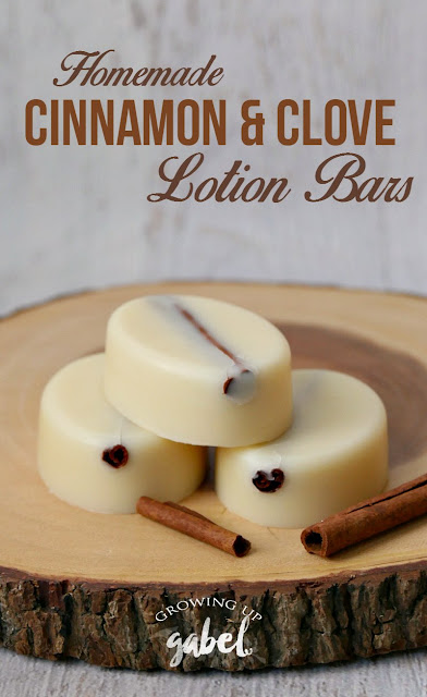 homemade cinnamon lotion bars