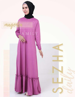 Gamis Amily Sezha Dress Magenta