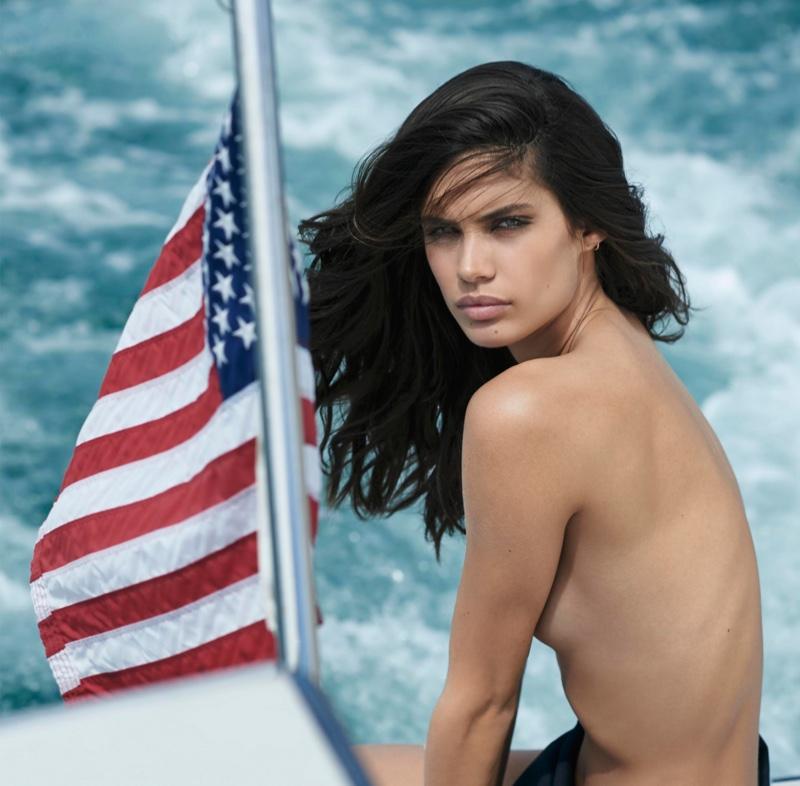 Sara Sampaio goes skinny dipping for Maxim