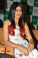 Bollywood Actress Adah Sharma Pos in White Printed Short Dress at OPPO F3 Plus Selfie Expert Mobile Launch .COM 0041.jpg