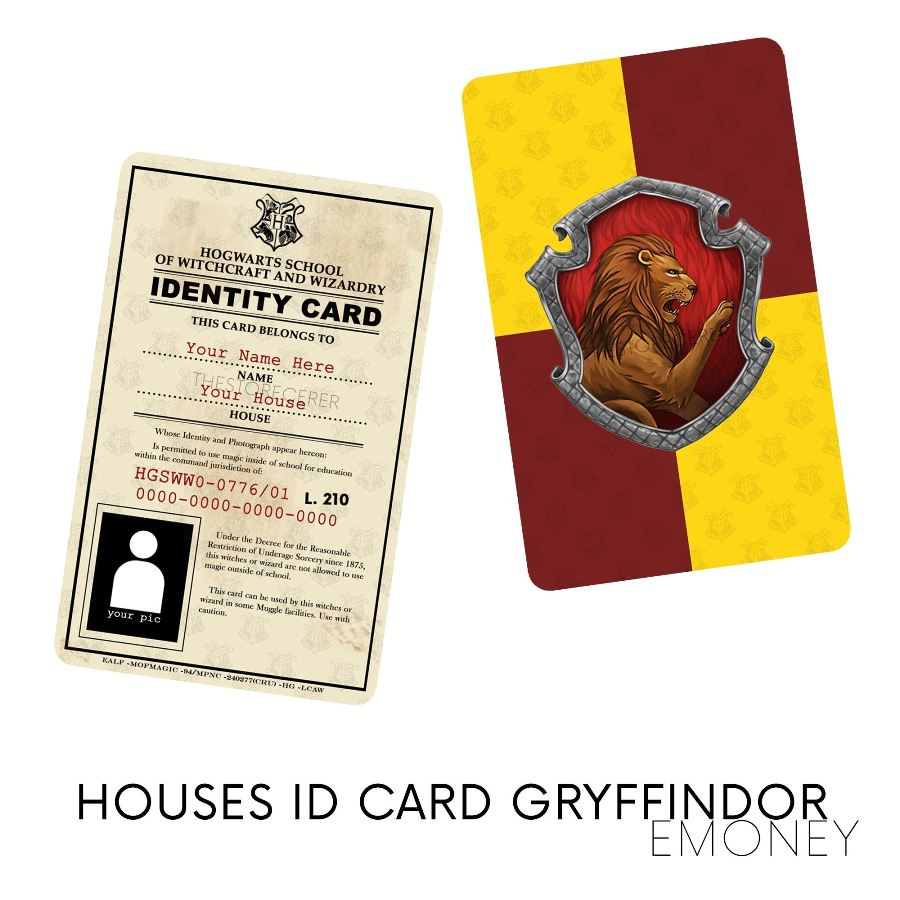 E-Money Gryffindor ID Card