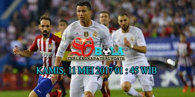 PREDIKSI PERTANDINGAN ATLETICO MADRID VS REAL MADRID 11 MEI 2017