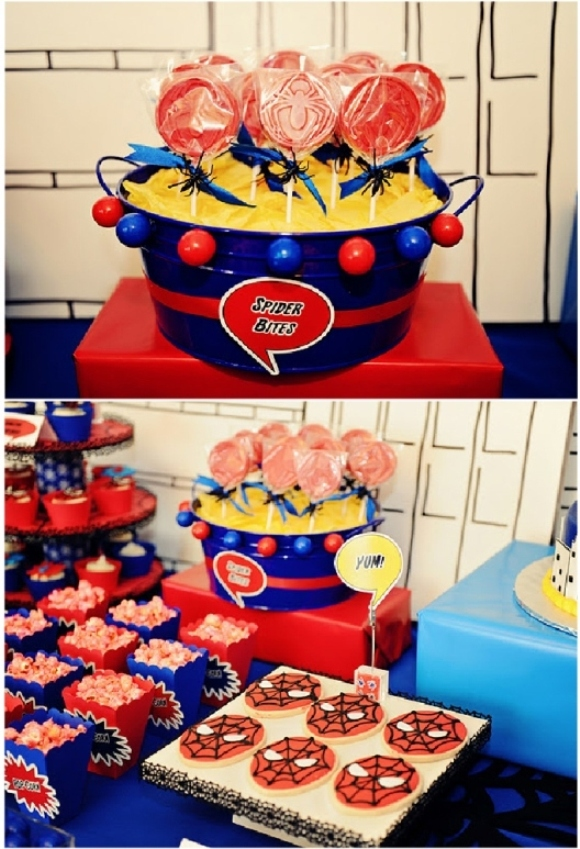 A Spiderman Inspired Super Hero Birthday Party - BirdsParty.com