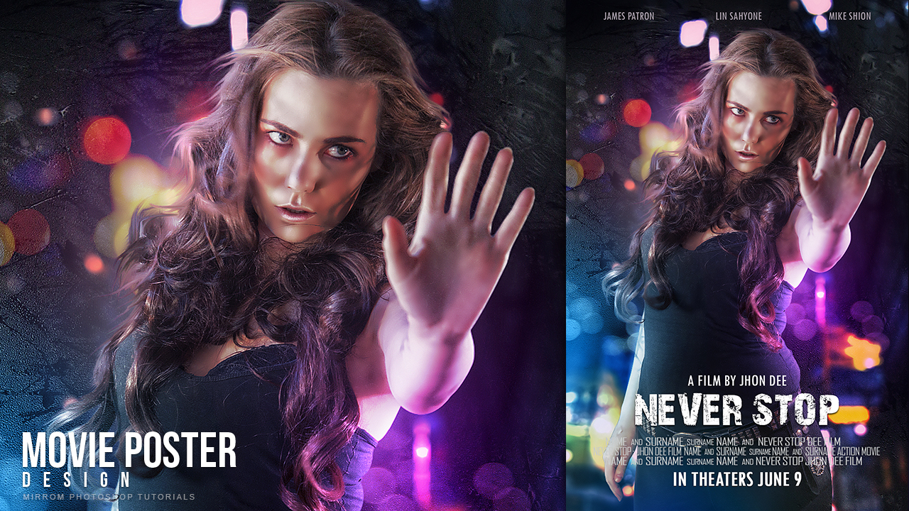 Create an Movie Poster With Bokeh And Light Effect In Photoshop CC