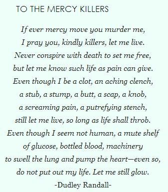 to the mercy killers by dudley randall