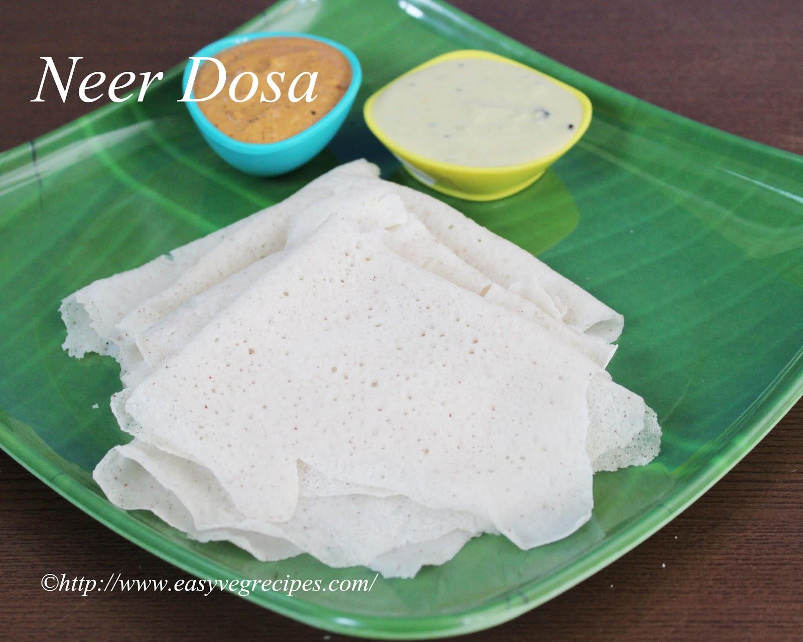 Neer dosa recipe how to make neer dosa neer dose neerdose