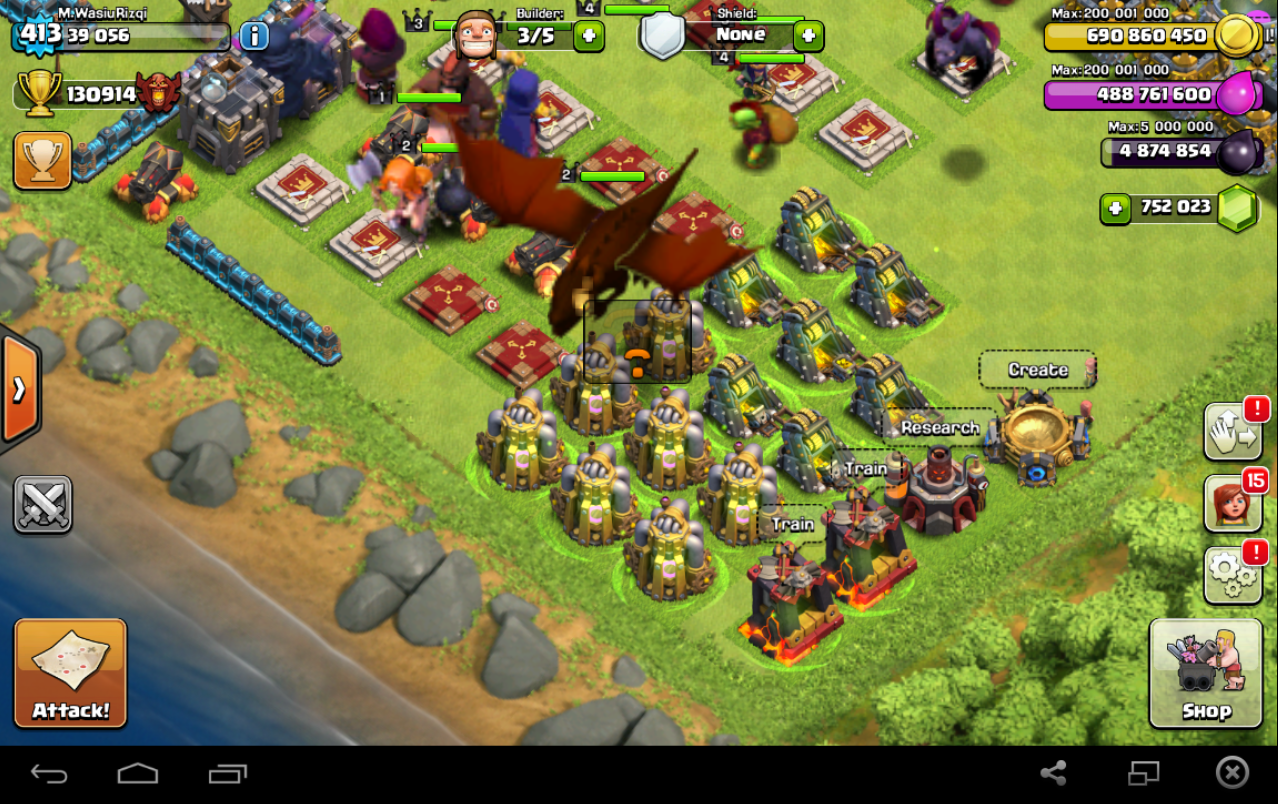 Coc hack android online emulator