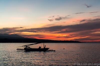 Amed - Bali - coucher de soleil