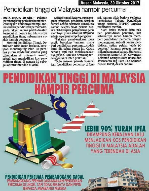 UNISEL Pun Rugi Berjuta-Juta, Ada Hati Nak Bagi Pendidikan Percuma