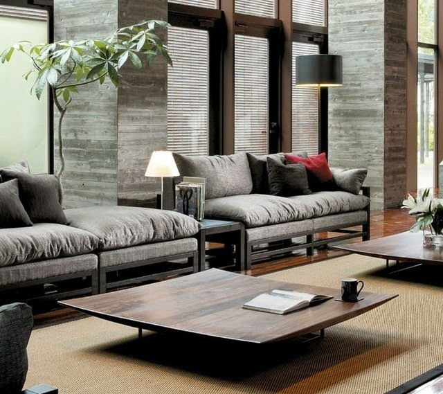 Comfortable modern living room design ideas in neutral ...