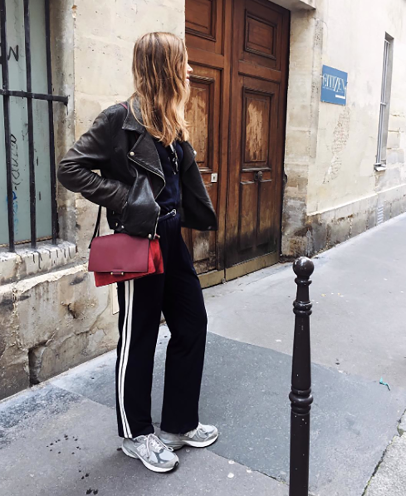 how-to-wear-leather-jacket-joggers-and-loafers-look-of-the-day-blog-ninas-vintage