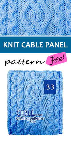 Knitted Cable Panel Pattern 33