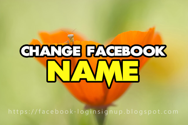 Change name on facebook mobile