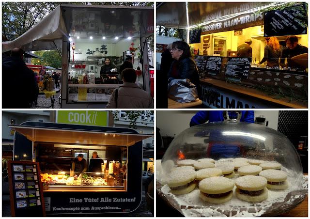 Food trucks Meet & Eat street food market in Rudolfplatz, Cologne, Germany