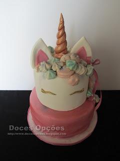 bolo Aniversário Unicórnio