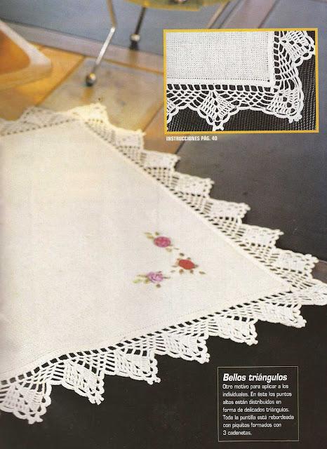 Patrón #1186: Puntilla para Individual a Crochet