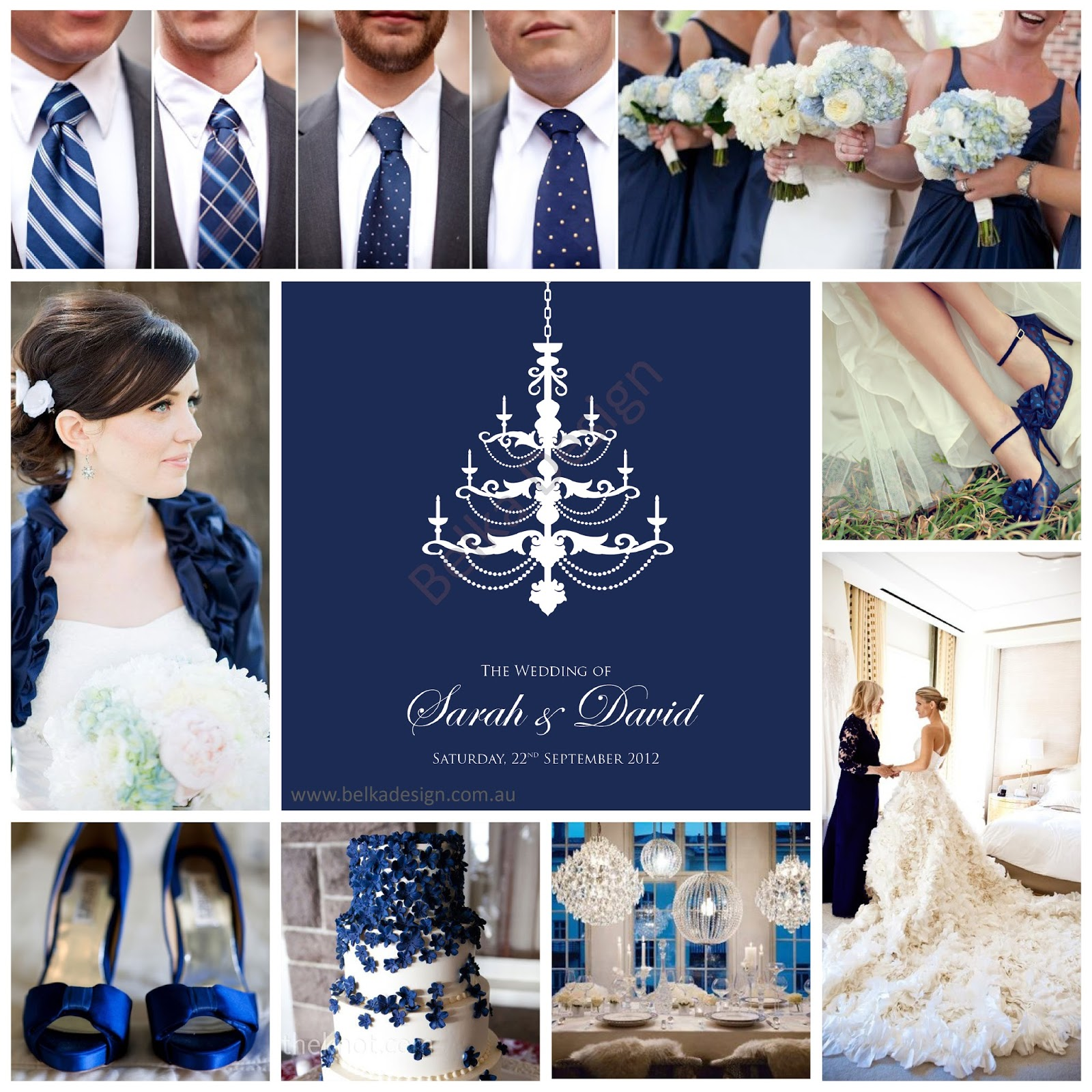 Gallery Wedding Theme Board Royal Navy Blue