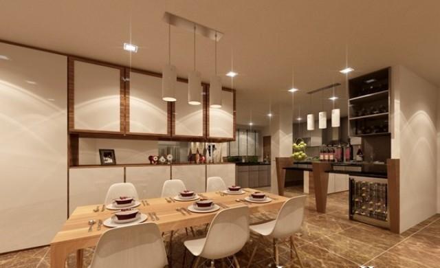 phòng ăn của căn hộ