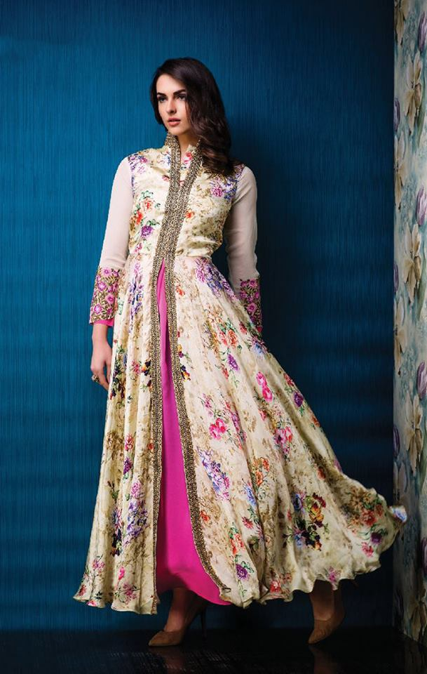 Designer Semi Stitch Gown Collections... | Buy Online Gowns ...