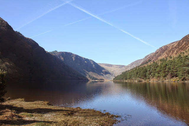 Many movies were filmed at the mirror lake in Glendalough, Ireland.