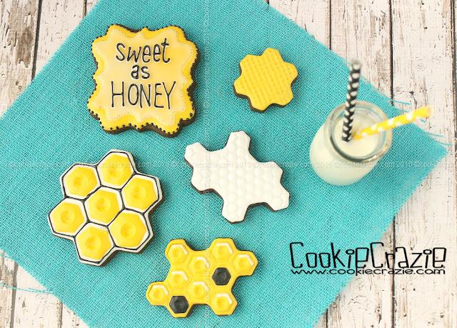 http://www.cookiecrazie.com/2016/07/honey-dripper-honey-comb-decorated.html