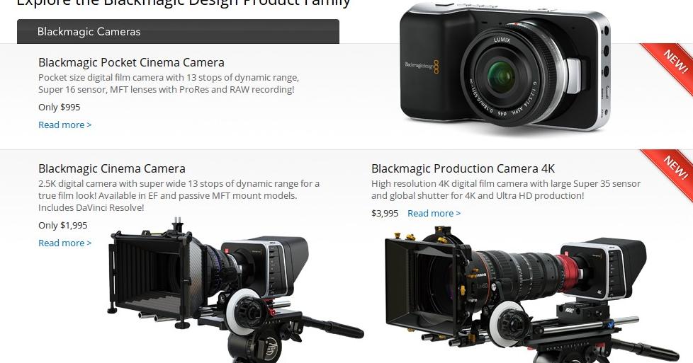 Hybrid Camera Revolution: Blackmagic CEO: BMCC Price Drop to $1995