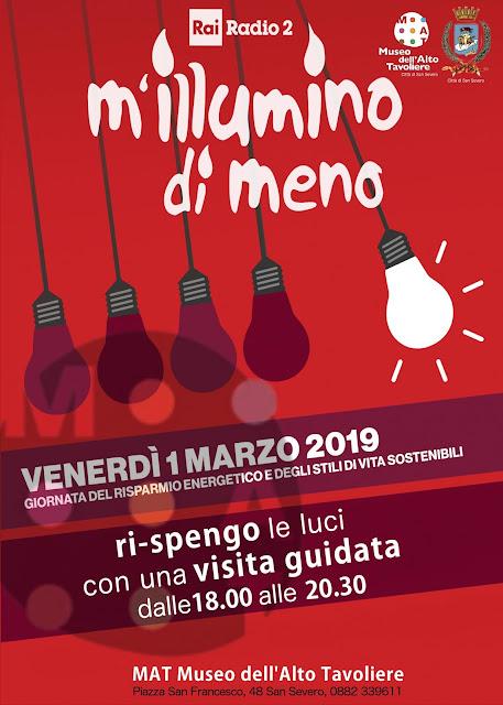 """""""M'illumino di Meno 2019 - Ri-spengo le luci"""", al MAT di San Severo """"visite guidate al buio"""" al museo"""