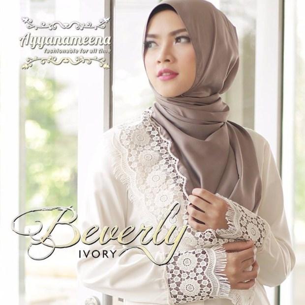 15 Contoh Baju Muslim Atasan Wanita Bahan Brokat Terbaru 2016