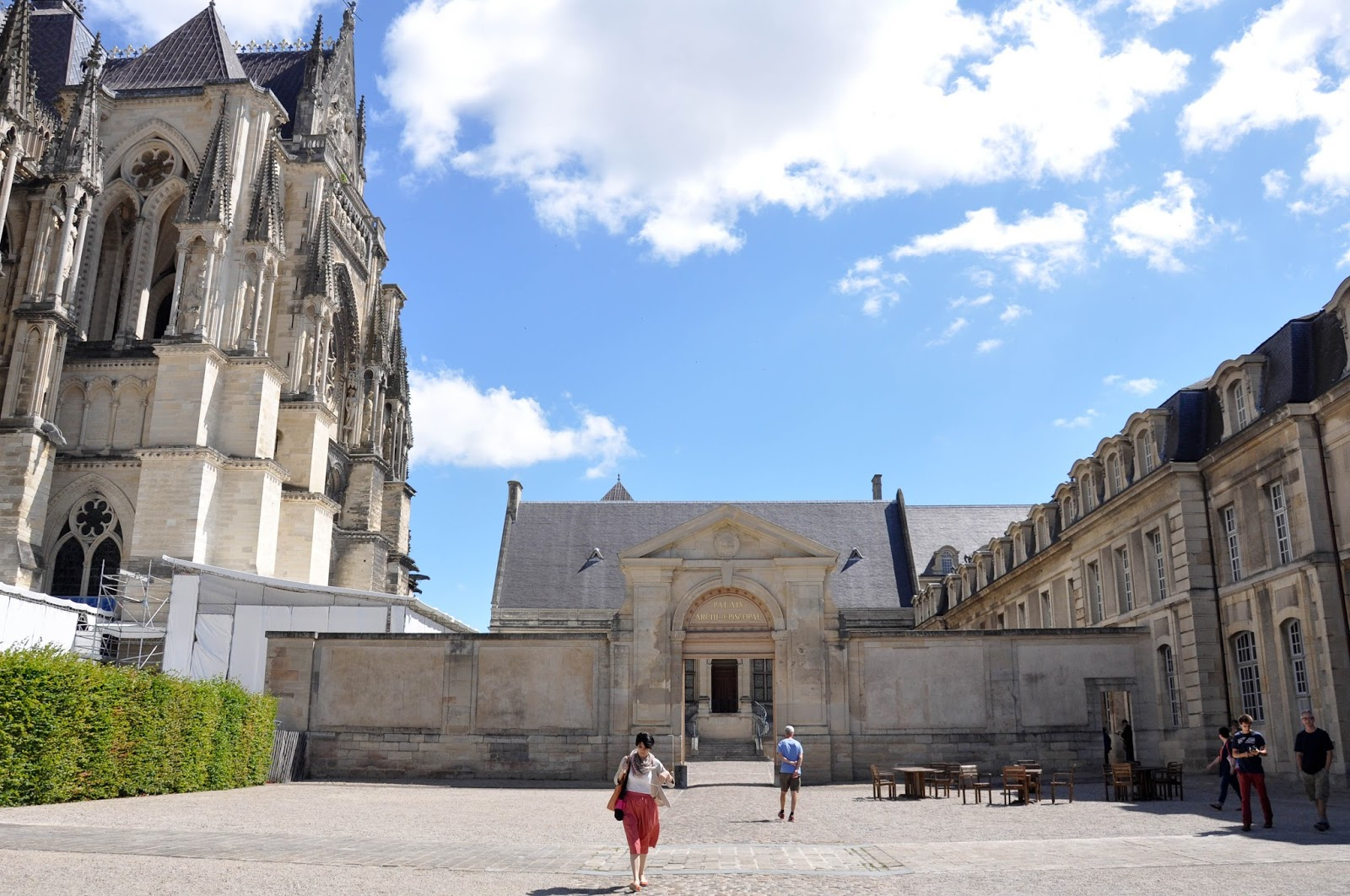 The square in front of the Archbishop's Palace, Reims Cathedral, Reims, France