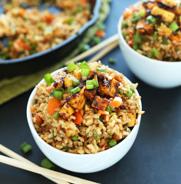 Easy Vegan Fried Rice #vegetarian #dinner