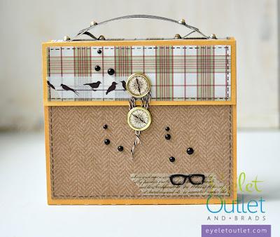 suitcase mini-album | Eyelet Outlet DT @akonitt #by_marina_gridasova #silhouettecameo #minialbum #suitcaseminialbum #robinsnest #eyeletoutlet