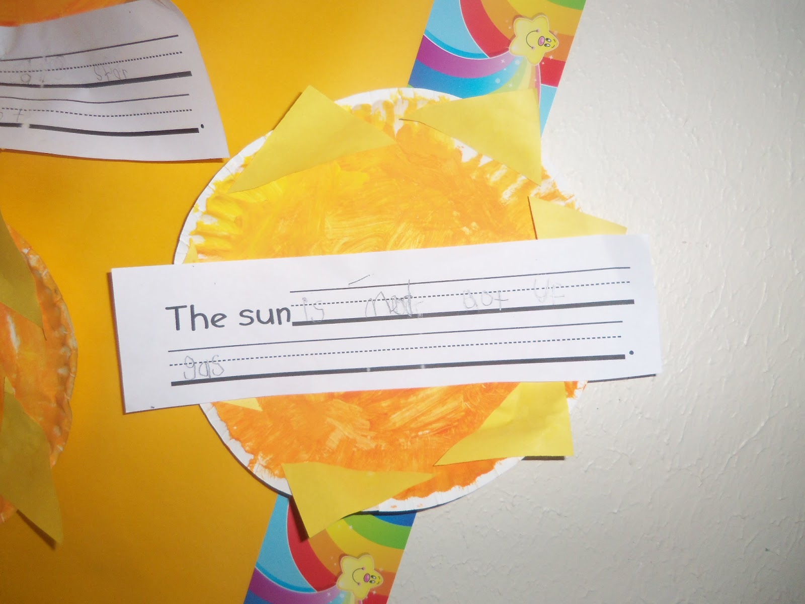 Mrs Wood S Kindergarten Class Sun Moon Stars