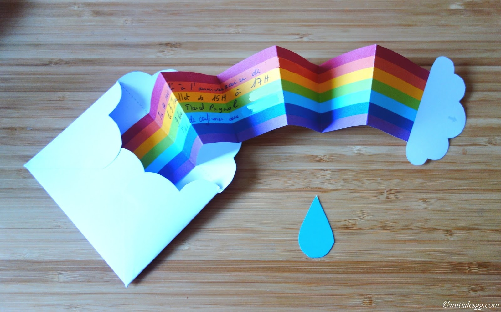 diy une invitation d 39 anniversaire en mode rainbow. Black Bedroom Furniture Sets. Home Design Ideas