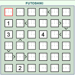 Futoshiki (Logical Thinking Puzzle Game)