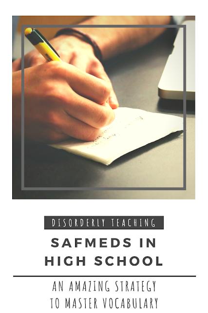 Disorderly Teaching - SAFMEDS in High School for Vocabulary