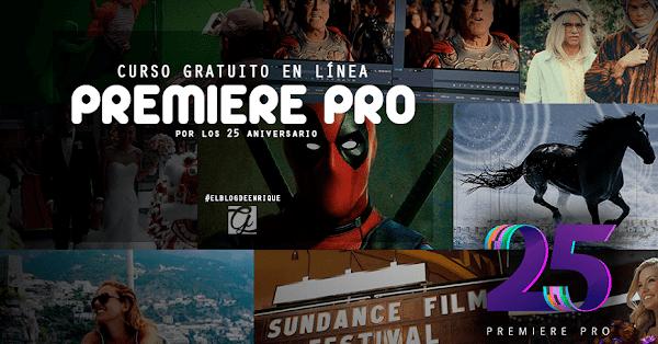 Curso gratuito en línea de Adobe Premiere Pro