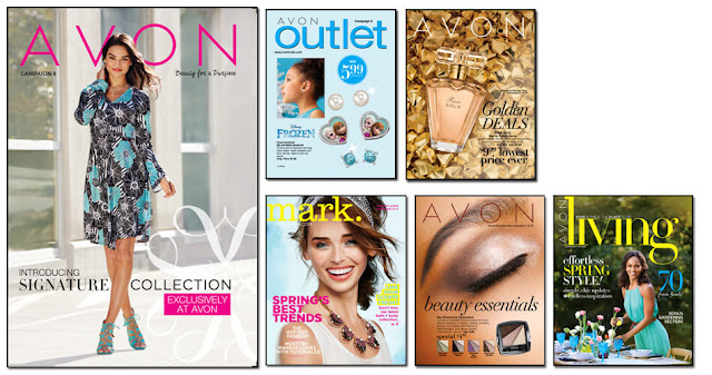 Avon Campaign 8, Avon Outlets, Avon mark magalog, The online date on this Avon catalogs 3/19/2016' - 4/1/2016'