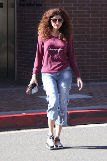 Blanca Blanco In Toned Jeans And Maroon Color T-Shirt