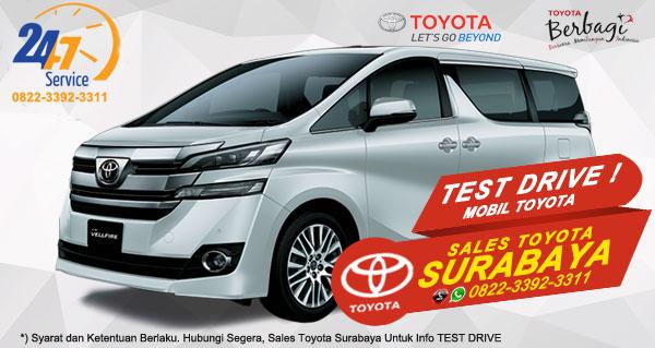 Info Test Drive Toyota Vellfire Surabaya